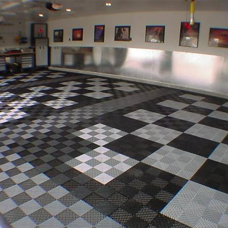FlooringInc Vented Grid-Loc Tiles - Midnight Black 1 Tile (12