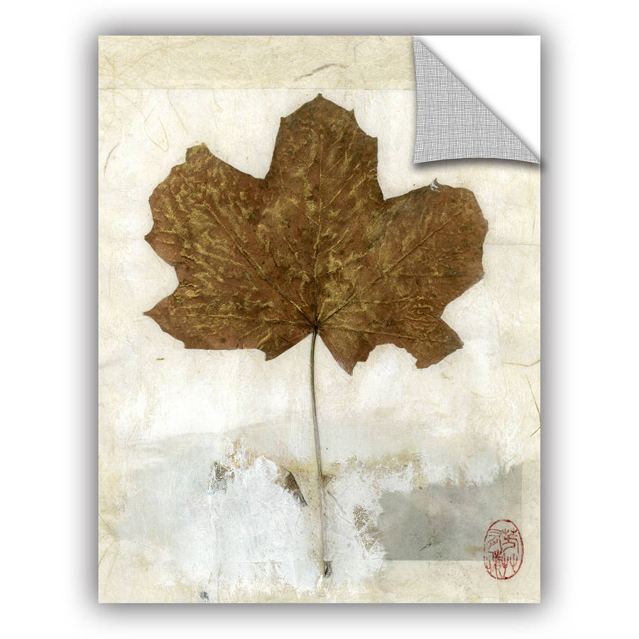 "ArtWall Elena Ray ""Golden Leaf"" Art Appeals Removable Wall Art"