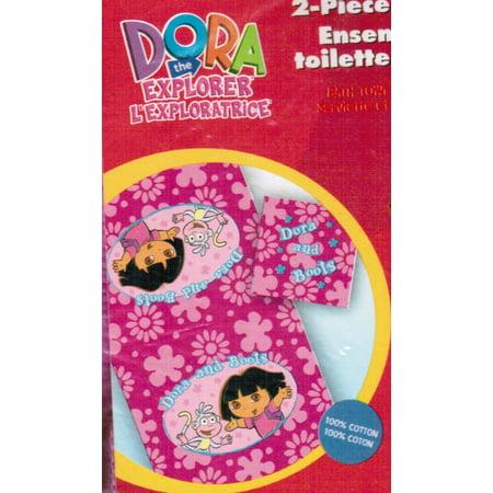 Dora the Explorer 2-piece Bath / Beach Towel Set - Flower