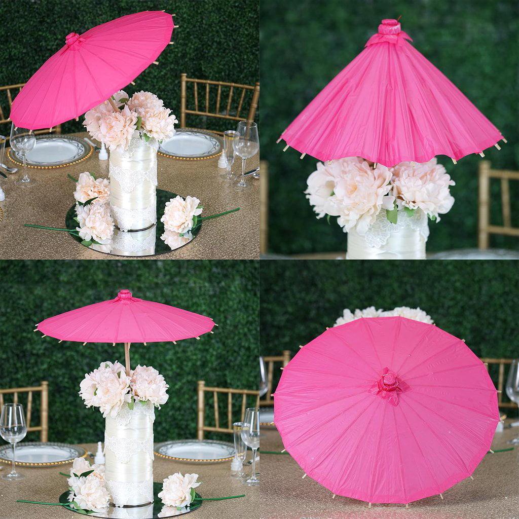 "Efavormart 20"" Paper Parasol Umbrella for DIY Wedding Centerpieces Arrangements Birthday Party Home Decoration"