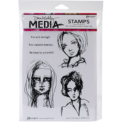Ranger Silhouetted Women Dina Wakley Media Cling Stamps 6 by 9