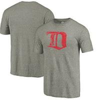 Detroit Red Wings Throwback Logo 1926-1927 Tri-Blend T-Shirt - Ash