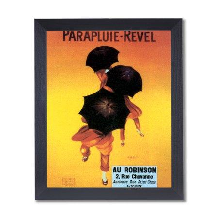 Revel Umbrella Vintage Poster Ad Wall Picture Black Framed Art Print ()
