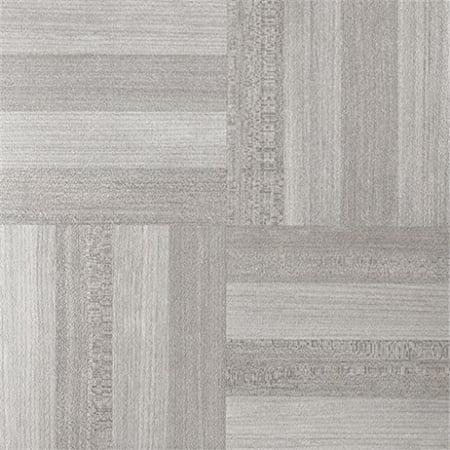 12 x 12 in. Nexus Ash Grey Wood Self Adhesive Vinyl Floor Tile - 20 Tiles by 20 sq. ft.