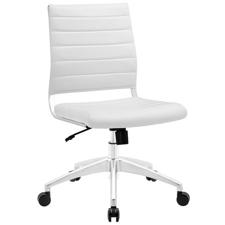 Modway Jive Armless Midback Leatherette Office Chair, Multiple Colors Director Leatherette Office Chair