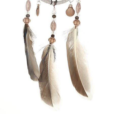 Rdeghly Hanging dreamcatcher, Car Pendant dreamcatcher,1 PCS Creative Handmade Dream Catcher with Feather Shells Car Pendant Hanging Decoration - image 3 of 7