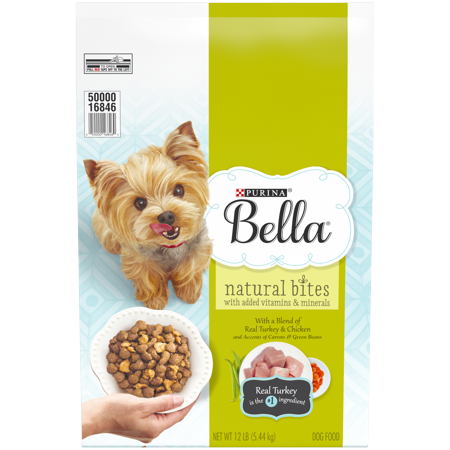 Purina Bella Natural Small Breed Dry Dog Food; Natural Bites With Real Turkey & Chicken - 12 lb. Bag ()