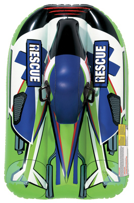 Aqua Leisure Ind AW4058 Snow Rocket Sled Rebel, Inflatable, Green, 40-In. by AQUA LEISURE IND INC