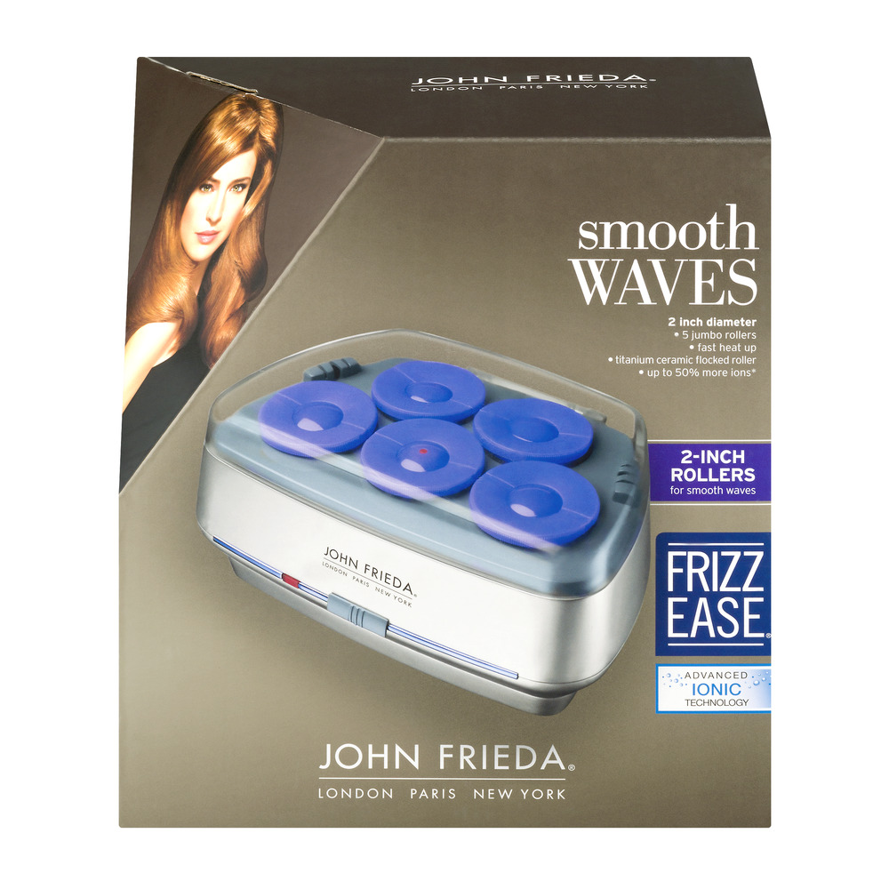 John Frieda Smooth Waves 2-Inch Rollers, 1.0 CT