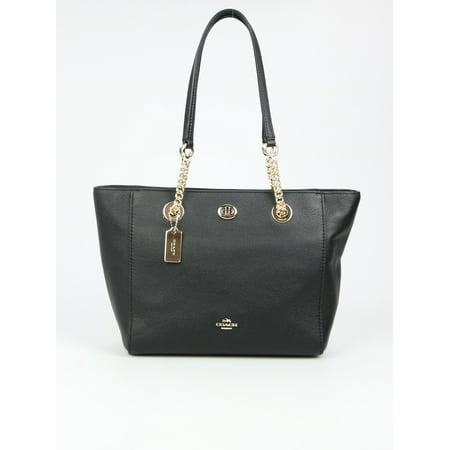 Turnlock Bag - Coach Turnlock Ladies Small Pebbled Leather Tote Handbag 57107