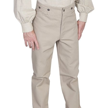 Scully Western Pants Mens Canvas Old West Button Fly 564562