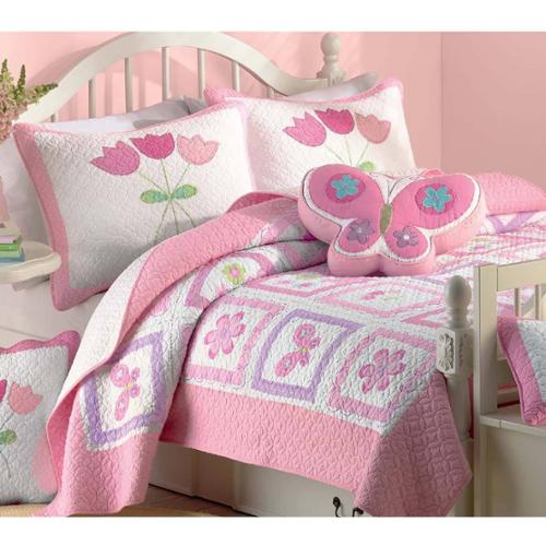 BEST BEDDING INC Butterfly Flower Twin-size 2-piece Quilt Set by Overstock