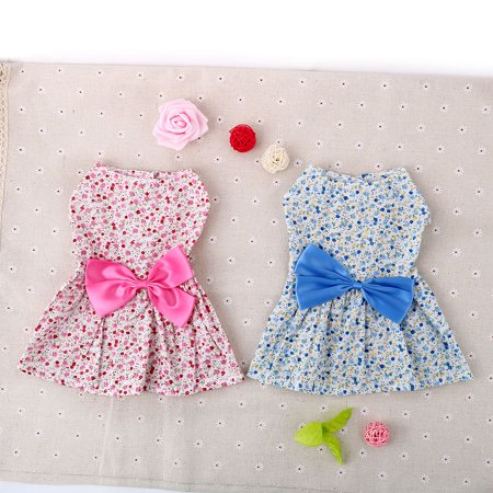 Small Pet Dog Cat Dresses Clothes Princess Skirt Bowknot - Dress Like A Cat For Halloween