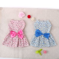 Small Pet Dog Cat Dresses Clothes Princess Skirt Bowknot Flower