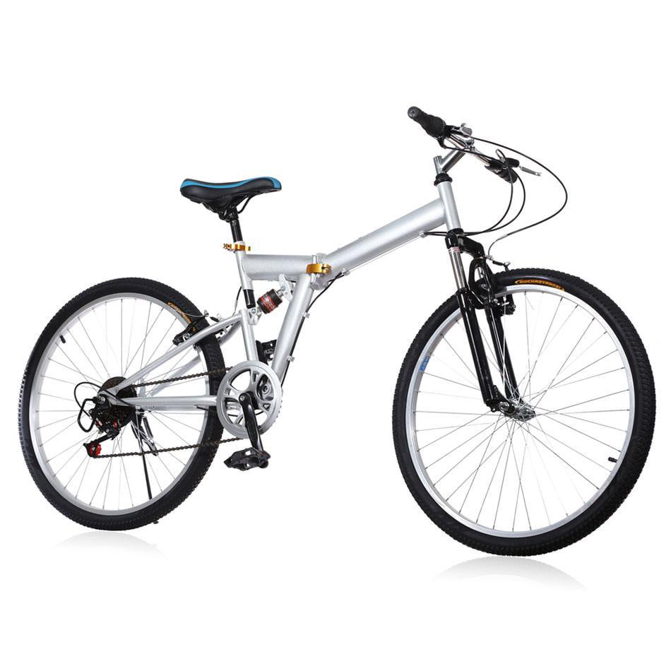 "New 26"" Folding 6 Speed Mountain Bike Sport Cycling V Bra..."