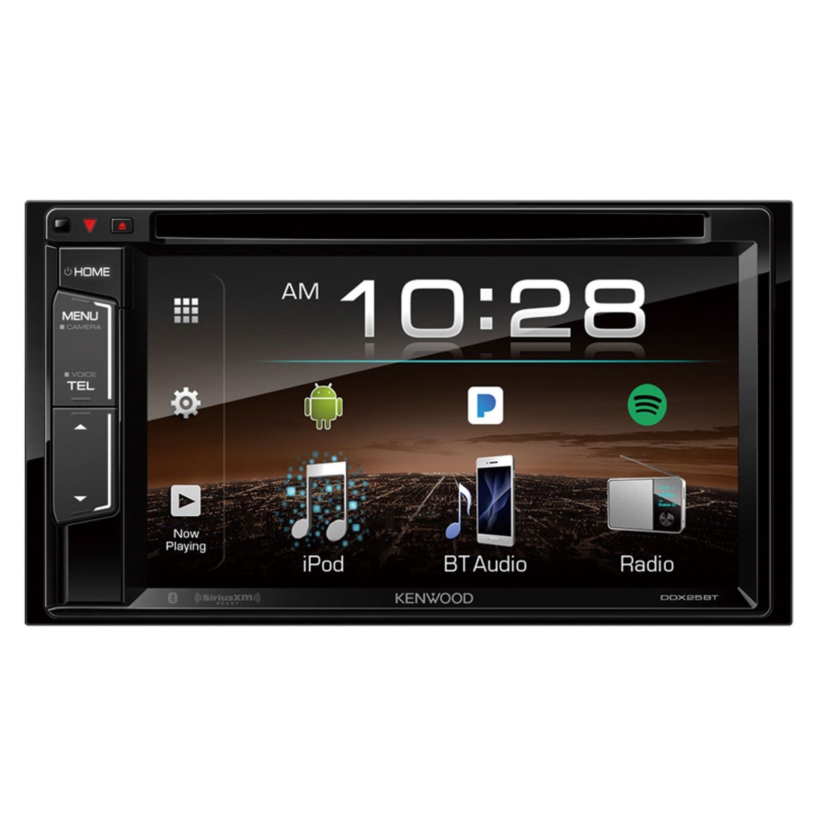 "Kenwood DDX25BT 6.2"" Double-Din In-Dash DVD Receiver With Bluetooth & SiriusXM Ready"