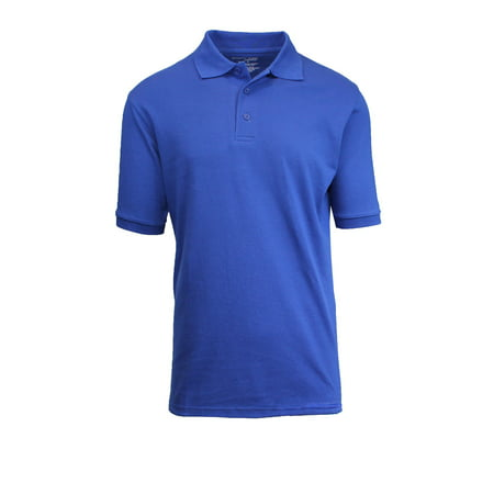 Mens Short Sleeve Pique Polo Shirts Uniform Fitted