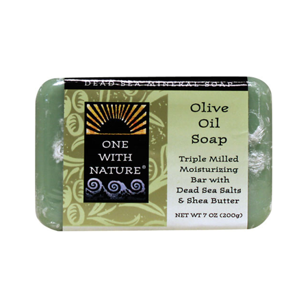 One With Nature Dead Sea Minerals Triple Milled Bar Soap - Olive Oil 7 oz
