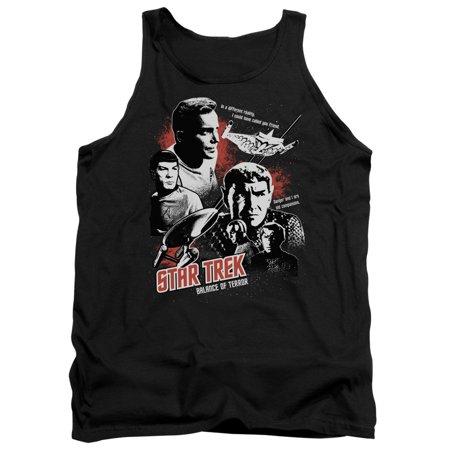 Star Trek TV Series Balance of Terror Kirk & Spock Adult Tank Top Shirt