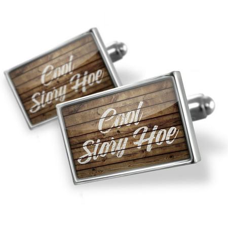 Cufflinks Painted Wood Cool Story Hoe - NEONBLOND (Wood Cufflinks)