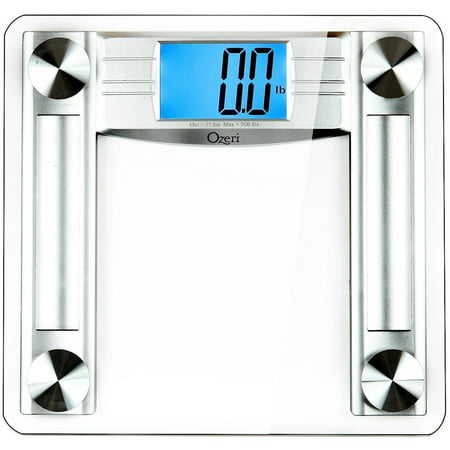 Ozeri ProMax 560 lbs / 255 kg Bath Scale, with 0.1 lbs / 0.05 kg Sensor Technology, and Body Tape Measure & Fat Caliper (Bath Scales Digital Body Fat)