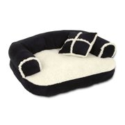 Aspen Pet Sofa Bed With Pillow, 20 X 16 Inches (Colors May Vary), Color may vary: Espresso, Black, T