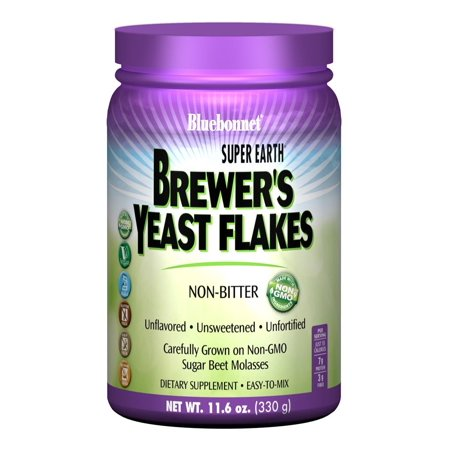 Bluebonnet Super Earth Brewer's Yeast Flakes, 11.6 Oz