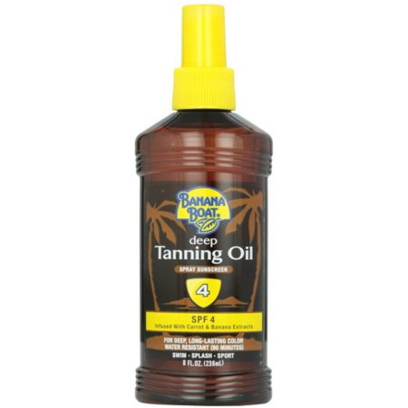 Banana Boat Deep Tanning Oil Spray, SPF 4 8 oz (Pack of