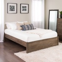 Prepac Queen Select 4 post Platform Bed Drifted Gray