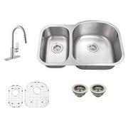 Schon SC1167553 Double Basin Undermount Kitchen Sink Set