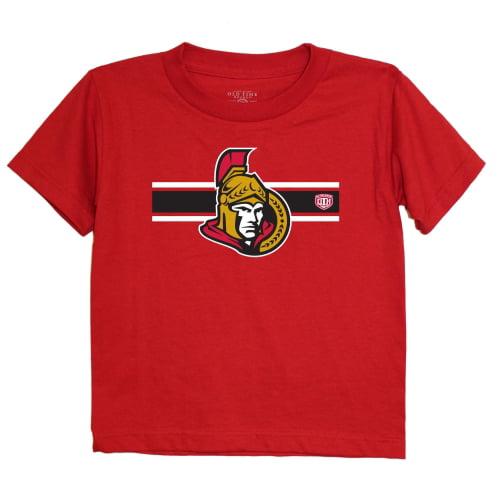 Ottawa Senators Old Time Hockey Preschool Striped Logo T-Shirt - Red