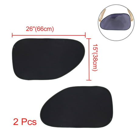 Static Electric Babycare Car Cling Sun Shade (2 Pack) for Auto Side Windows Blocks 97% of UV Ray ()