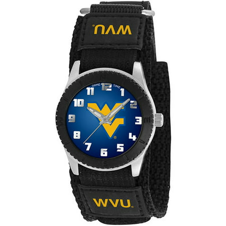 Game Time NCAA Kids' West Virginia University Mountaineers Rookie Series Watch, Black Velcro Strap