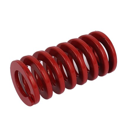 Unique Bargains 30mm OD 60mm Long Coil Medium Load Stamping Compression Mold Die Spring Red
