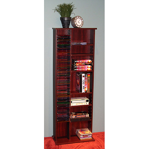 Bon CD/DVD Tower Storage Unit, Cherry