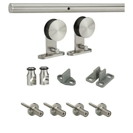 National Hardware N186 962 72 X 6 Stainless Steel Decorative Interior Sliding Door Hardware Kit
