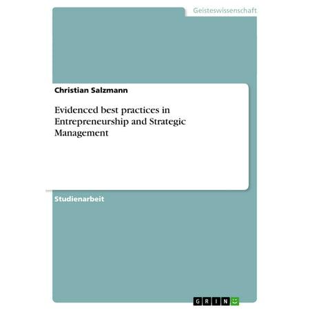 Evidenced best practices in Entrepreneurship and Strategic Management - (Strategic Sourcing Best Practices)