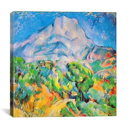29a535405204 iCanvas   La Montagne St. Victoire   by Paul Cezanne Painting Print on  Canvas - Walmart.com