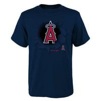 MLB Los Angeles ANGELS TEE Short Sleeve Boys OPP 100% Cotton Alternate Team Colors 4-18