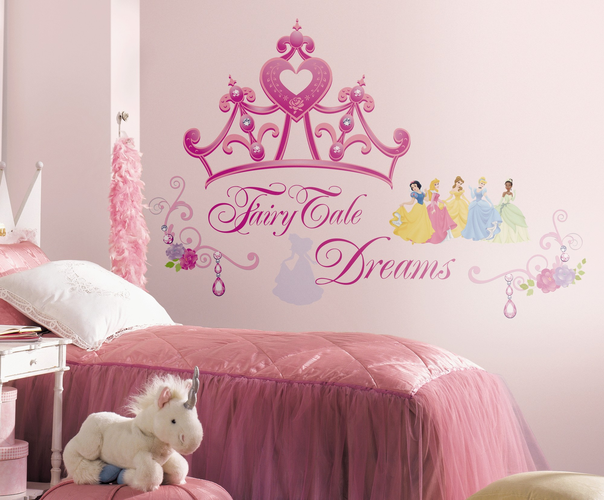 disney princess  princess crown peel and stick giant wall decal  - disney princess  princess crown peel and stick giant wall decal walmartcom