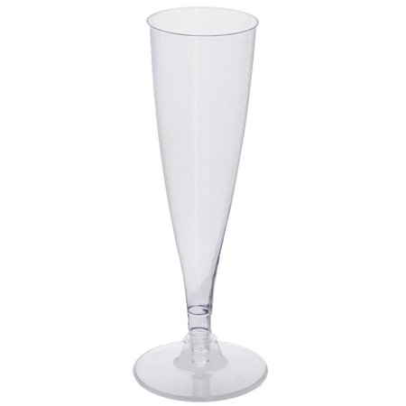 Tall Plastic Cups (BalsaCircle 12 pcs 4.7 oz. Disposable Plastic Tall Champagne Flutes for Wedding Reception Party Buffet Catering)