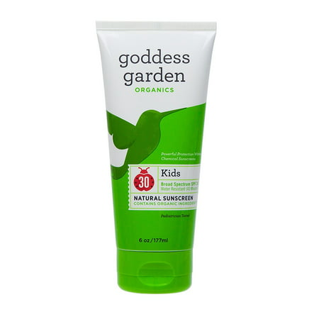 Goddess Garden Organics Sunny Kids SPF 30 Natural Sunscreen SPF, 6 Oz