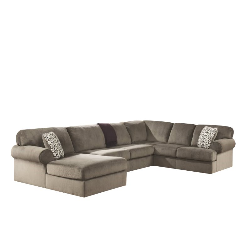 Ashley Jessa Place 3 Piece Polyester Sectional in Dune by Ashley Furniture