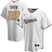 Juan Soto Washington Nationals Nike 2020 Gold Program Replica Player Jersey - White/Gold