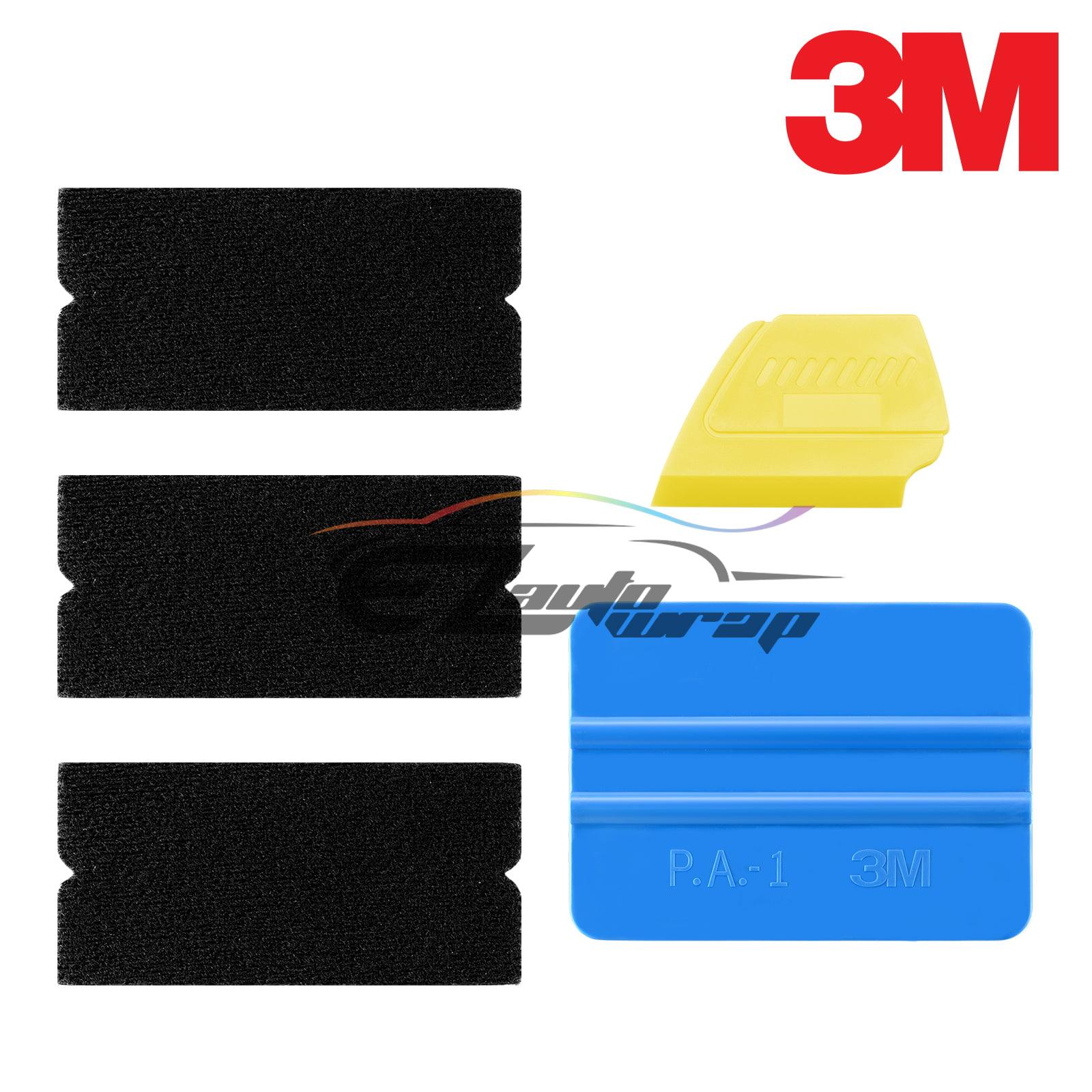 WINJUN 6 in 1 Auto Window Tinting Kits Vinyl Wraps Tool with Felt Edge Squeegee Water Blade Windshield Wiper Plastic Glass Scraper