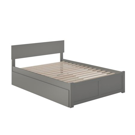 Atlantic Furniture Orlando Full Platform Panel Bed with Trundle in Gray - image 3 of 5
