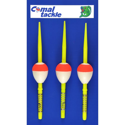 Comal 3pk Pear Spring Stick Float, Red/White