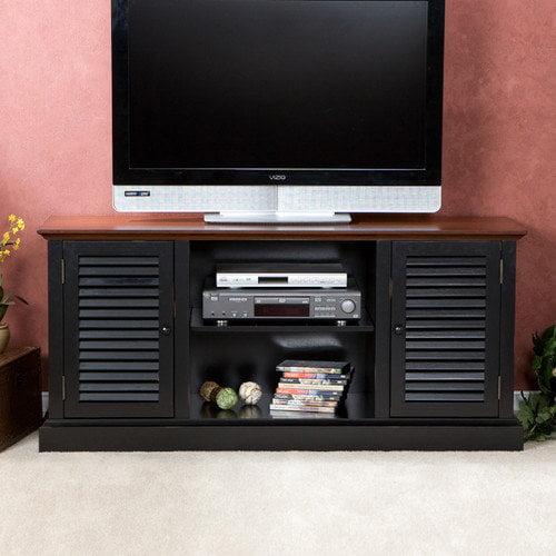 Wildon Home   Cubango TV/ Media Stand in Black w/ Walnut
