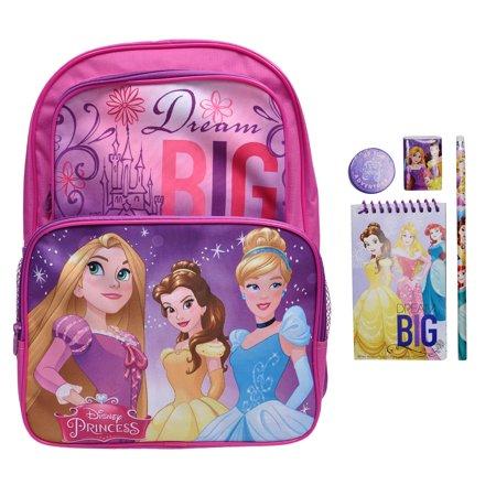 87e9488e737 Disney - Girls Disney Princesses Dream Big Backpack   4Pc School Kit -  Walmart.com