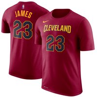 LeBron James Cleveland Cavaliers Nike Name & Number Performance T-Shirt - Wine